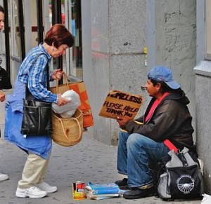 photo helping the homeless