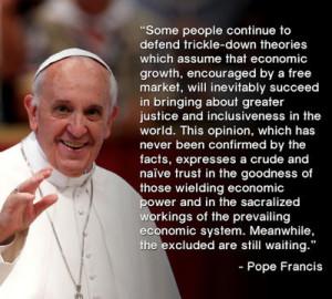 francis on economy