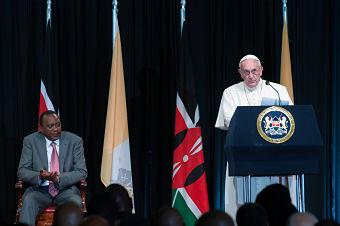 pope kenya president