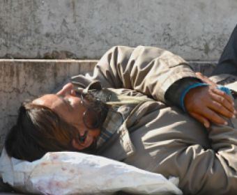 homeless sleeping